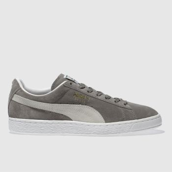 Mens Puma Grey Suede Classic Eco Trainers