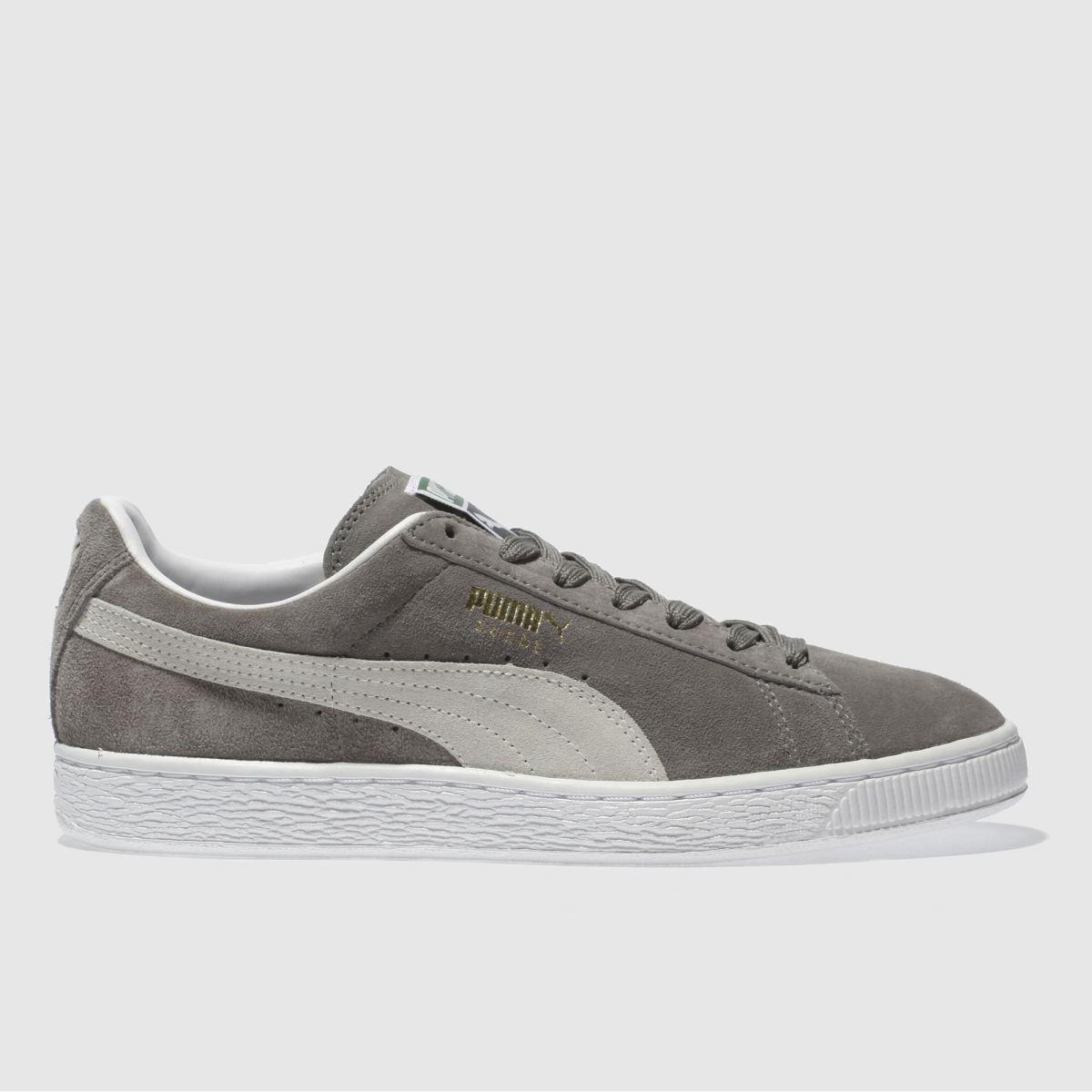 Puma Grey Suede Classic Eco Trainers