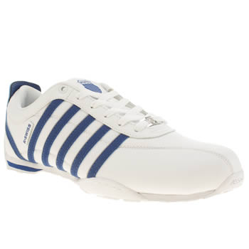 K-Swiss White & Navy Arvee 1-5 Trainers