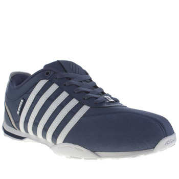 Mens K-Swiss Navy & White Arvee 1-5 Trainers
