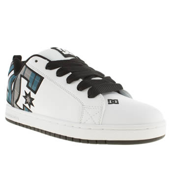 Mens Dc Shoes White Court Graffik Trainers