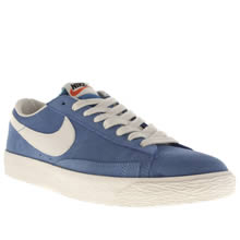 Blue Nike Blazer Low Vintage