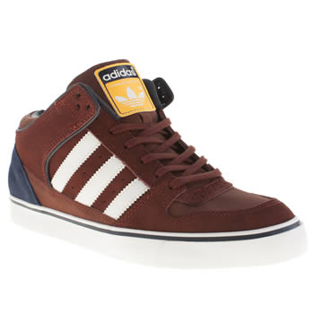 Mens Adidas Burgundy Culver Mid Trainers