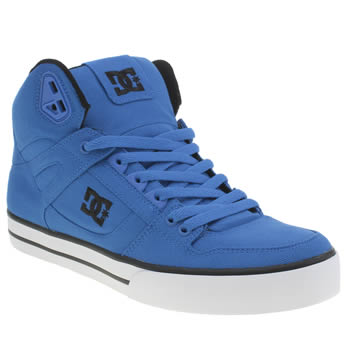 Mens Dc Shoes Blue Spartan High Wc Tx Trainers