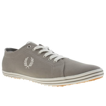 mens fred perry grey kingston trainers