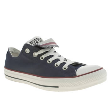 Converse Navy All Star Double Tongue Trainers