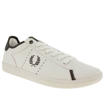 mens fred perry white westcliff trainers