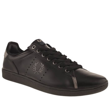 mens fred perry black & grey westcliff trainers