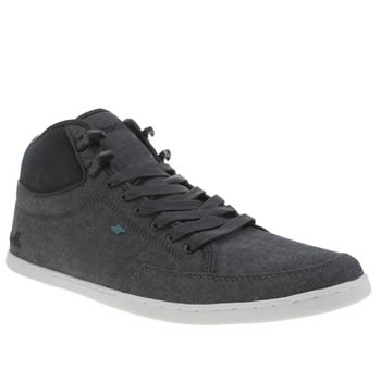 mens boxfresh navy swapp premium waxed canvas trainers