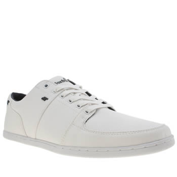 Mens Boxfresh White & Navy Spencer Trainers