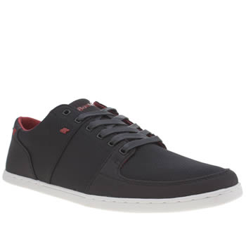 Mens Boxfresh Navy & Red Spencer Trainers