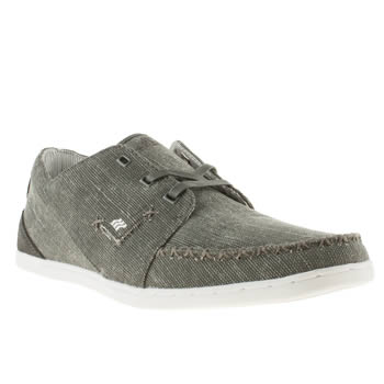 mens boxfresh dark grey keel trainers