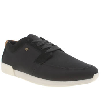 Mens Boxfresh Black Cowl Trainers