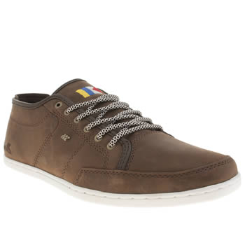 Mens Boxfresh Dark Brown Sparko Premium Har Lea Trainers
