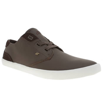 Mens Boxfresh Dark Brown Stern Trainers