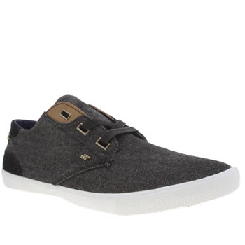 Mens Boxfresh Black Stern Trainers