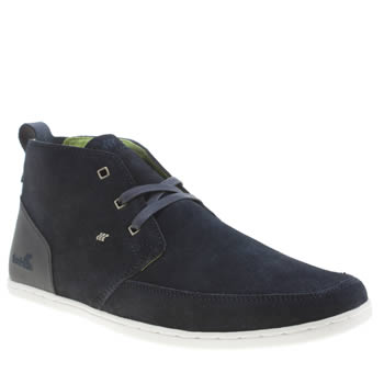 Boxfresh Navy & Lime Symonns Mens Trainers