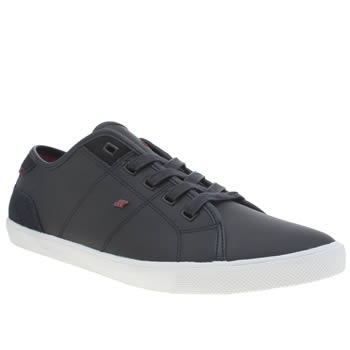 Mens Boxfresh Navy & Red Mitcham Trainers