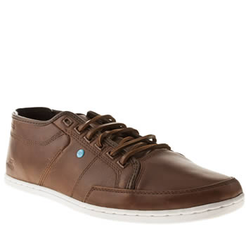 mens boxfresh brown sparko 4 leather trainers