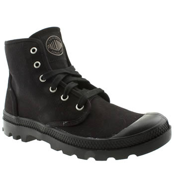 Palladium Black Pampa Hi Trainers