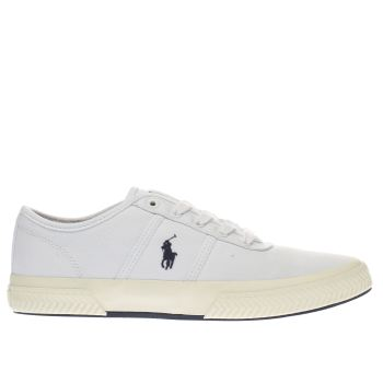 Polo Ralph Lauren White Tyrain Trainers