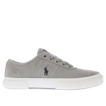 Polo Ralph Lauren Light Grey TYRIAN Trainers