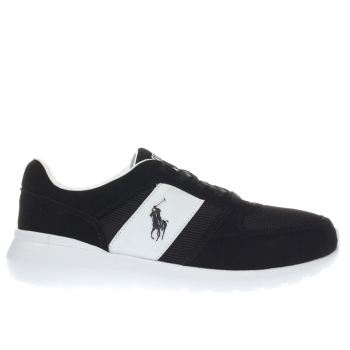 Polo Ralph Lauren Black & White Cordell Trainers