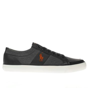 Polo Ralph Lauren Black IAN Trainers