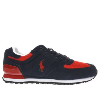 Polo Sport Navy & Red Slaton Pony Trainers
