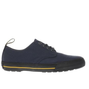 Dr Martens Navy & Black Pressler Canvas Trainers