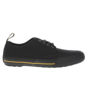 Dr Martens Black Pressler Canvas Mens Trainers