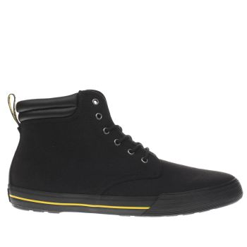 Dr Martens Black Eason Canvas Mens Boots