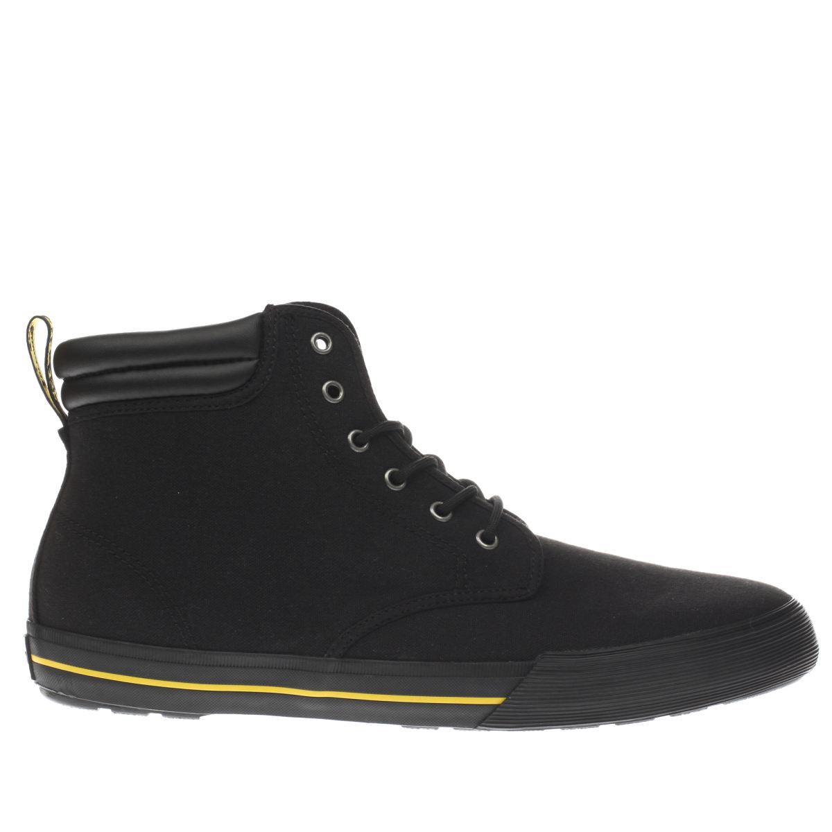 dr martens black eason canvas boots