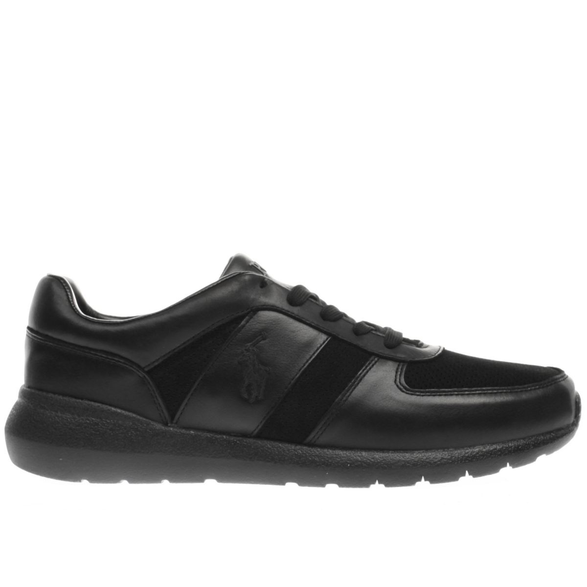 polo ralph lauren black cordel trainers