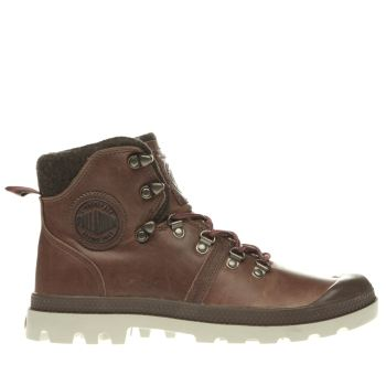 Palladium Tan Pallabrouse Mens Boots