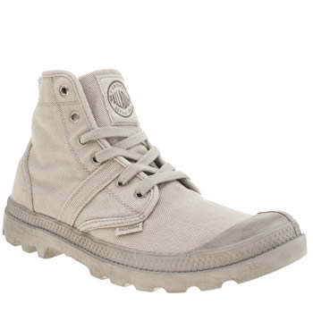 Mens Palladium Light Grey Pallabrouse Trainers