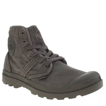 Mens Palladium Dark Grey Pallabrouse Trainers