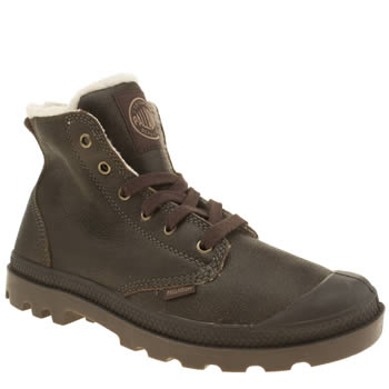 Palladium Dark Brown Pampa Hi Leather S Boots