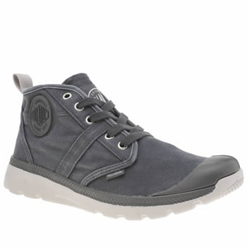 Palladium Dark Grey Pallaville Hi Mens Trainers