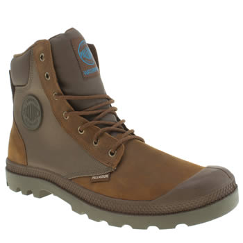 mens palladium brown pampa hi waterproof boots