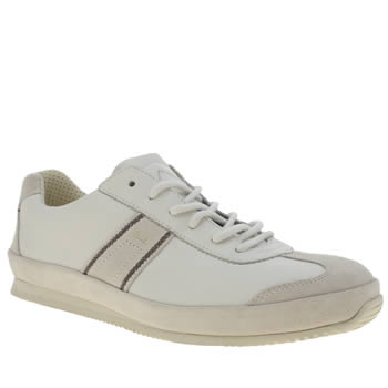 Mens Paul Smith Shoes White Fuzz Trainers
