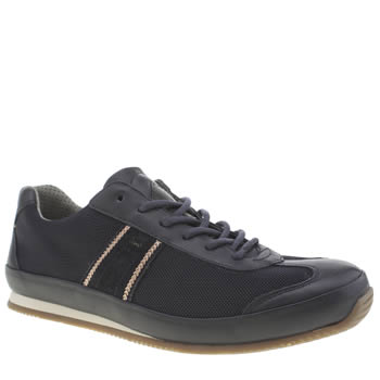 Mens Paul Smith Shoes Navy & Orange Fuzz Trainers