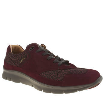 Paul Smith Shoes Burgundy October Mens Trainers