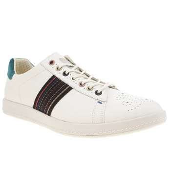Mens Paul Smith Shoes White & Black Rabbit Trainers