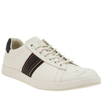 Paul Smith Shoe Ps White & Navy Rabbit Mens Trainers