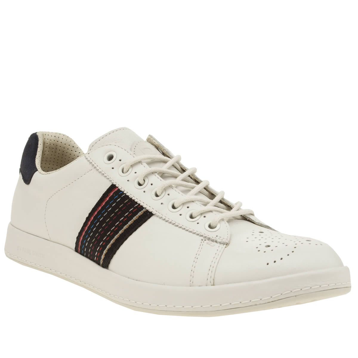 paul smith shoe ps Paul Smith Shoe Ps White & Navy Rabbit Trainers