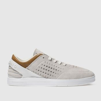 Diamond Supply Co White Graphite Mens Trainers