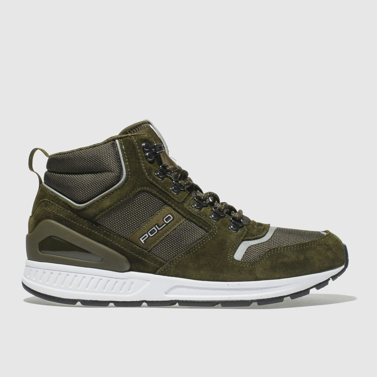 Polo Ralph Lauren Khaki Train 100 Mid Trainers