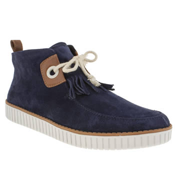 mens armistice navy stroke mid cut shoes