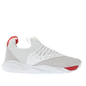 Clear Weather White & Red Stryk Trainers